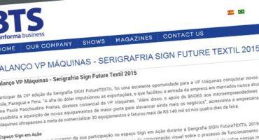 Balanço VP Máquinas – Serigrafria Sign Future Textil 2015